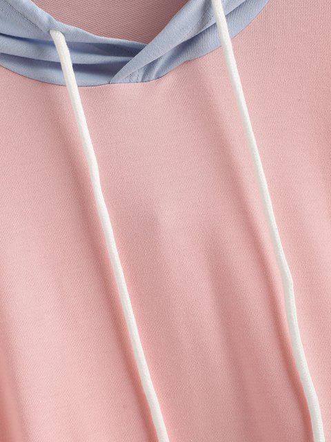 hot ZAFUL Drawstring Colorblock Kangaroo Pocket Hoodie - MULTI-A S Mobile