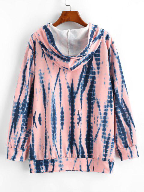 Casaco Moleton de capuz com bolsos de canguru - Luz rosa M Mobile