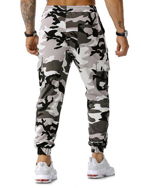 La impresión de Camo con cordón de carga del basculador de pantalones - Gris 2XL Mobile