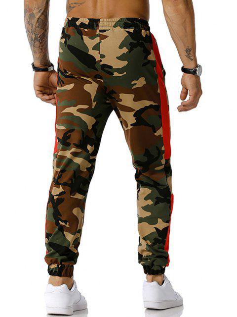 Camuflaje Imprimir con cordón pantalones casuales - Ejercito Verde S Mobile