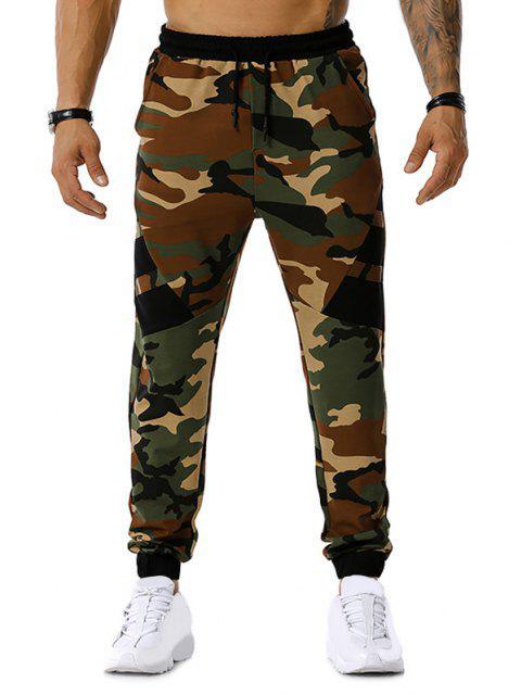 trendy Camouflage Print Drawstring Sports Pants - ARMY GREEN 2XL Mobile