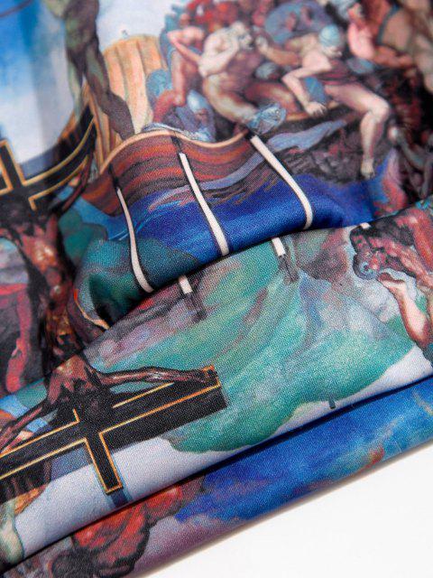 Känguru-Tasche Renaissance Kunstdruck Hoodie - Kobaltblau L Mobile