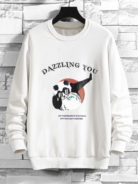 hot Cartoon Graphic Print Funny Sweatshirt - WHITE L Mobile