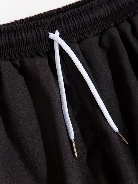 ladies Fire Flame Print Elastic Waist Pants - LIGHT GREEN L Mobile
