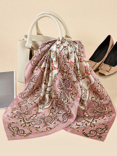 Bufanda Cuadrada Satinado Floral - Rosado  Mobile