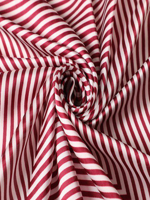 Gestreifter Kleiner Quadratischer Schal - Rot  Mobile