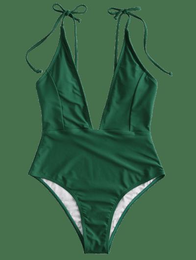 ZAFUL Tie Shoulder Backless Swimsuit