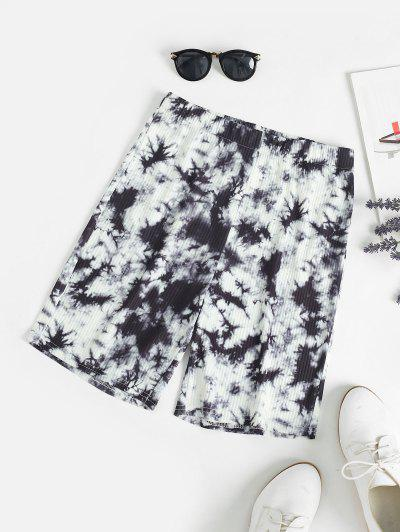 High Rise Tie Dye Bike Shorts - Black S