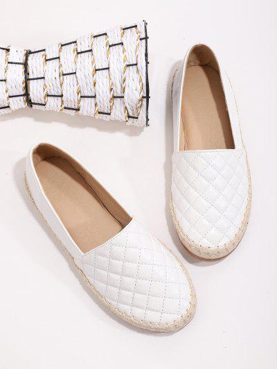 Sapatos Masculinos Casuais De Imitação De Couro Artificial - Branco Ue 38