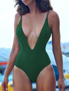 ZAFUL التعادل الكتف عارية الذراعين ملابس السباحة - متوسطة البحر الخضراء M
