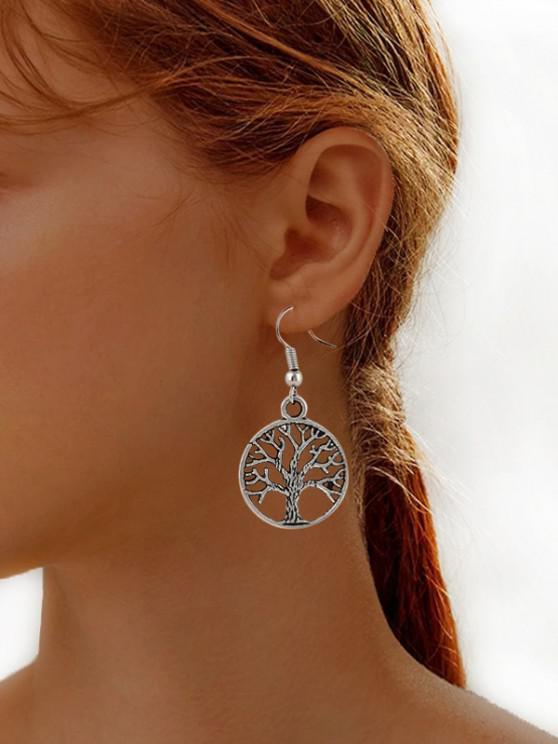 unique Tree Of Life Hook Earrings - SILVER