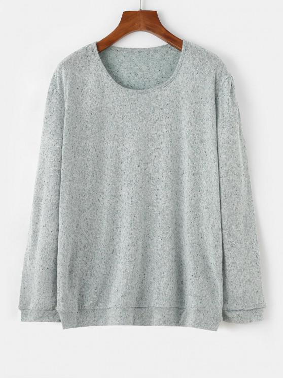 Speckled Oversize Jumper Sweater - اخضر فاتح M