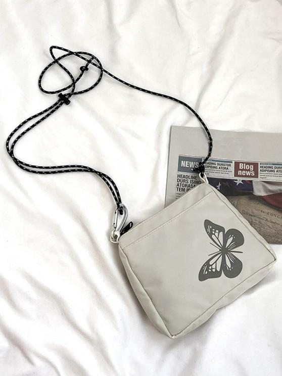 outfits Reflective Butterfly Pattern Canvas Bag - WHITE