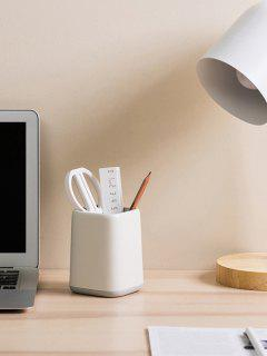 Two-tone Makeup Office Desk Multifunctional Pen Holder - Light Gray