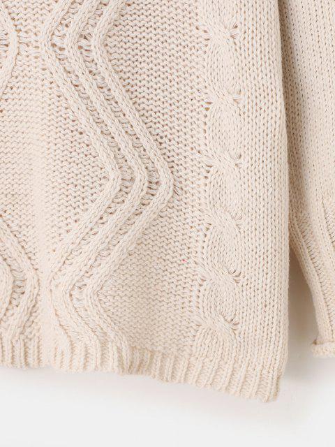 Camisola de Malha com Cabo de Ombro Solto - Branco Um Tamanho Mobile