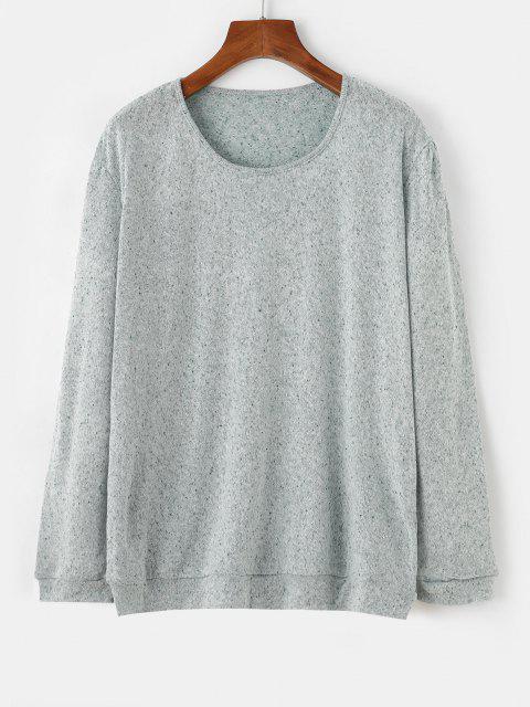 Gesprenkelt Aufmaß Jumper Pullover - Hellgrün M Mobile