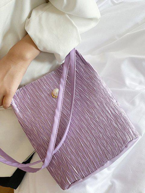 Bolsa Al Hombro Textura Perla Artificial - purpúreo claro  Mobile