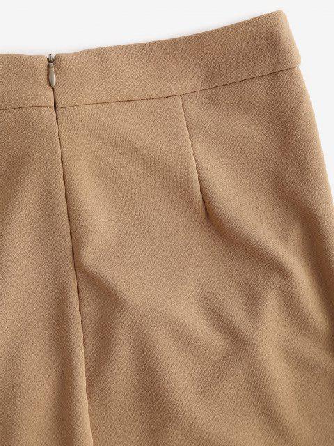 ladies ZAFUL Self Tie Bowknot Mini Skirt - TAN S Mobile