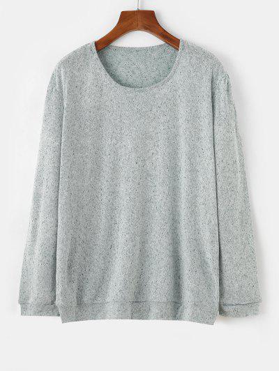 Speckled Oversize Jumper Sweater - Light Green L