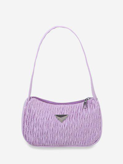 Crinkle Underarm Shoulder Bag - Light Purple