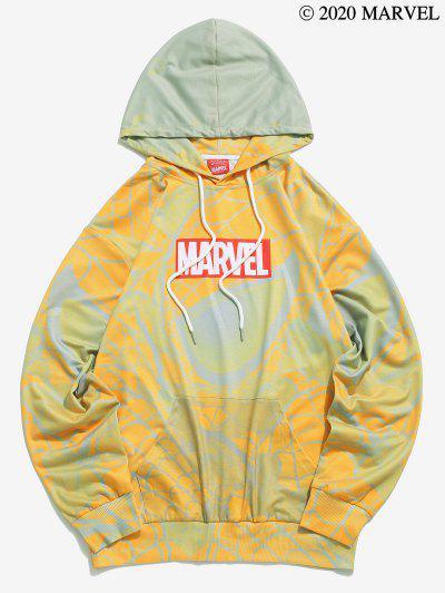Zaful / Marvel Spider-Man Printed Kangaroo Pocket Hoodie
