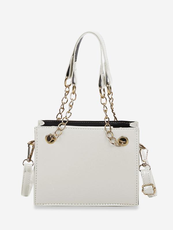 Brief Solid Square Handbag