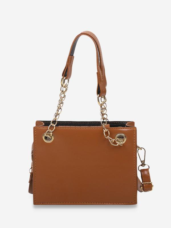 Brief Solid Square Handbag