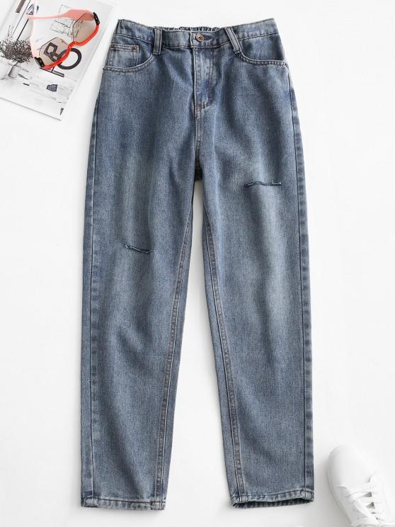 Jeans Cônicos Básicos - Azul claro S