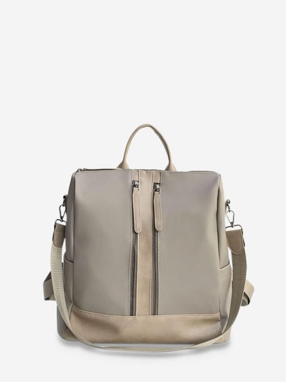 sale Large Capacity Multifunctional Leather Backpack - LIGHT COFFEE