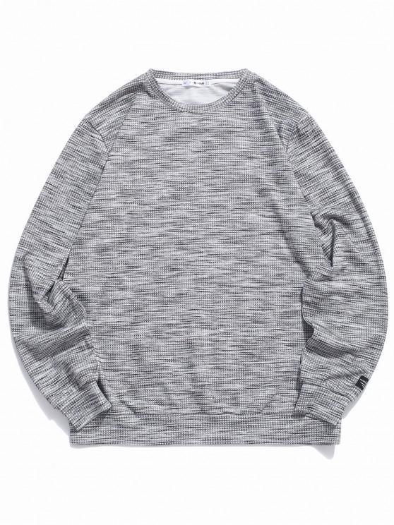 fancy ZAFUL Henley Casual Pullover Sweatshirt - DARK GRAY S