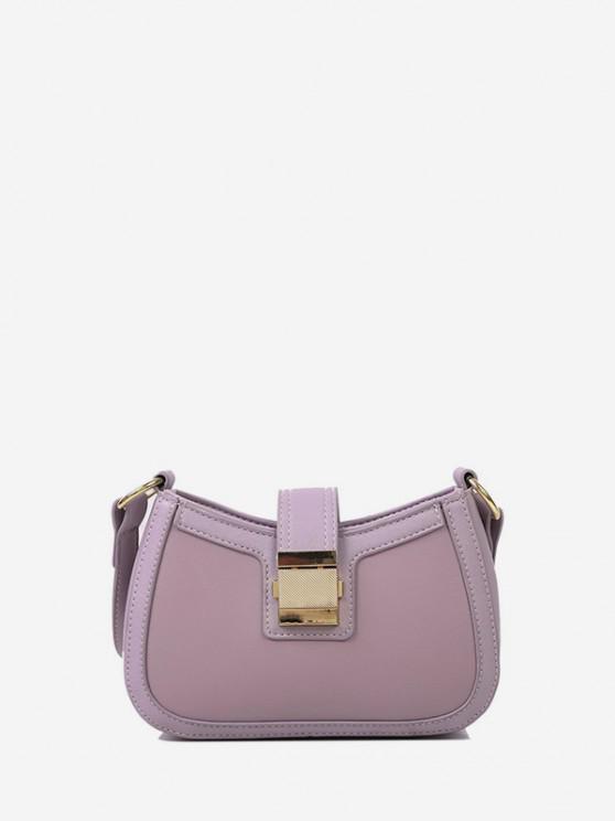 buy Brief Hasp Shoulder Bag - LIGHT PURPLE