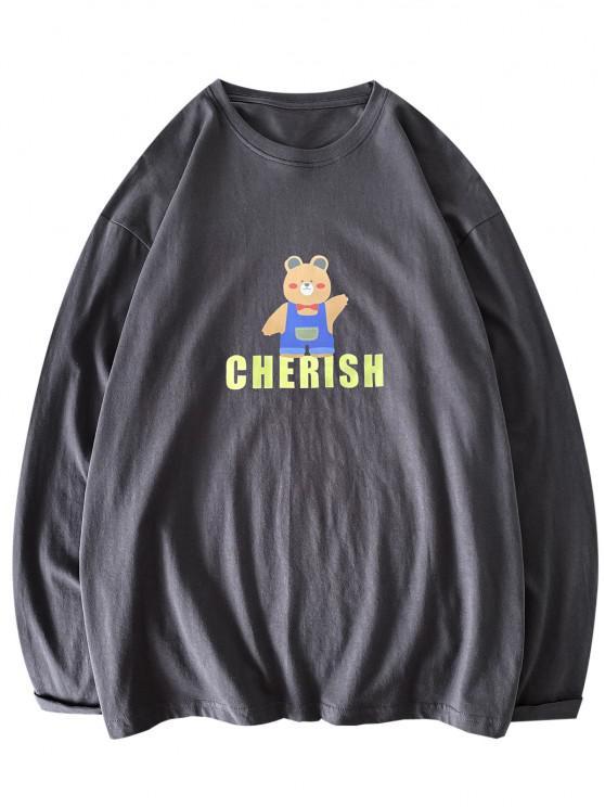 Bärn- Modisches Design, Sexy Passen Sie Ihre Verschiedenen Hülsen T-Shirt - Dunkelgrau M