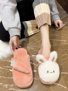 Rabbit Carrot Asymmetric Plush Slippers - Tiger Orange Eu 39
