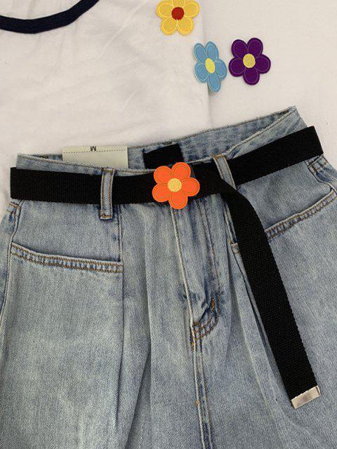 online Canvas Flower Pattern Buckle Belt - MULTI-B  Mobile
