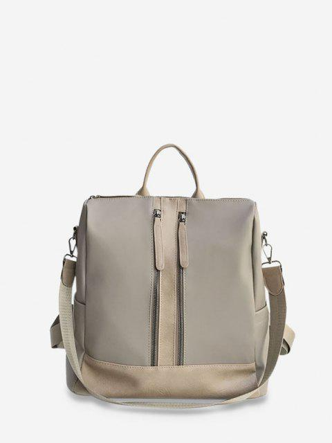sale Large Capacity Multifunctional Leather Backpack - LIGHT COFFEE  Mobile