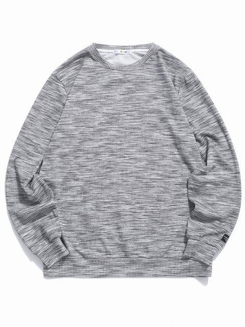 unique ZAFUL Henley Casual Pullover Sweatshirt - DARK GRAY M Mobile