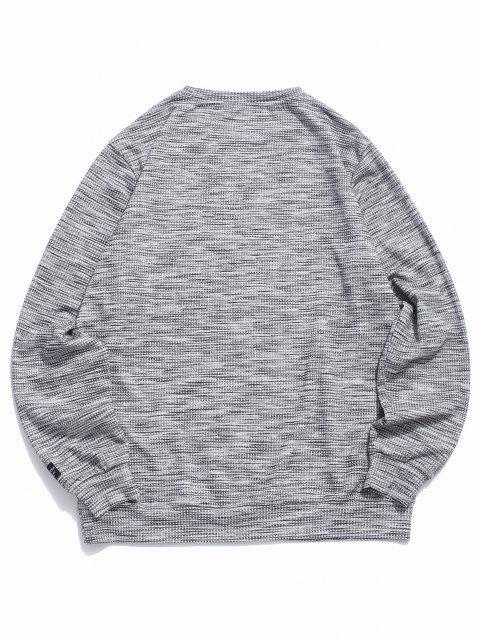 ZAFUL Henley Lässiges Kapuze Sweatshirt - Dunkelgrau L Mobile