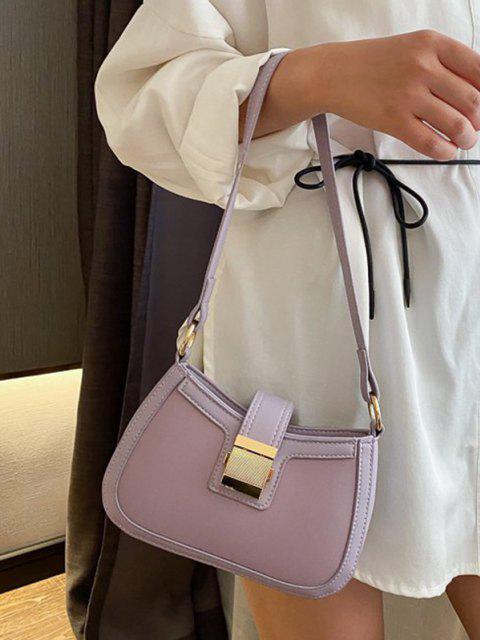 buy Brief Hasp Shoulder Bag - LIGHT PURPLE  Mobile