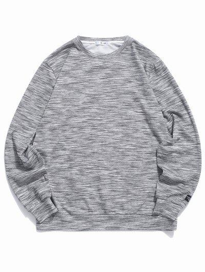 ZAFUL Henley Casual Pullover Sweatshirt - Dark Gray 2xl