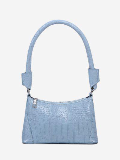 Bolsa De Ombro Texturizada Sólido - Azul Claro
