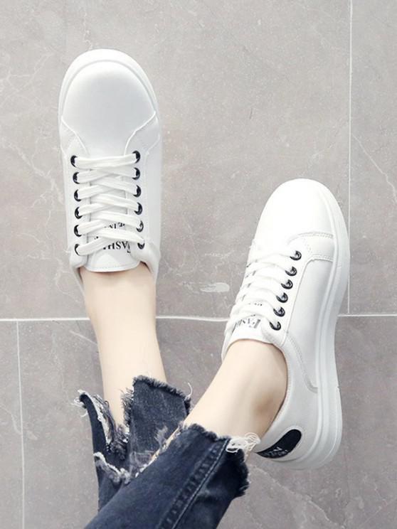 womens Glitter Lace Up Sports Shoes - BLACK EU 39