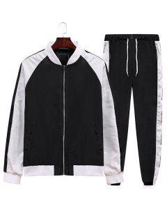 Giacca E Pantaloni A Blocchi Di Colore - Nero Xl