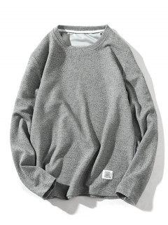 Pure Color Pullover Knitwear - Gray Xs