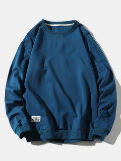 Sweat-Shirt PulloverenCouleur Unie - Bleu Xs