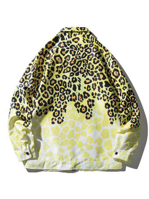 Giacca Leopardata con Tasca - Giallo L Mobile