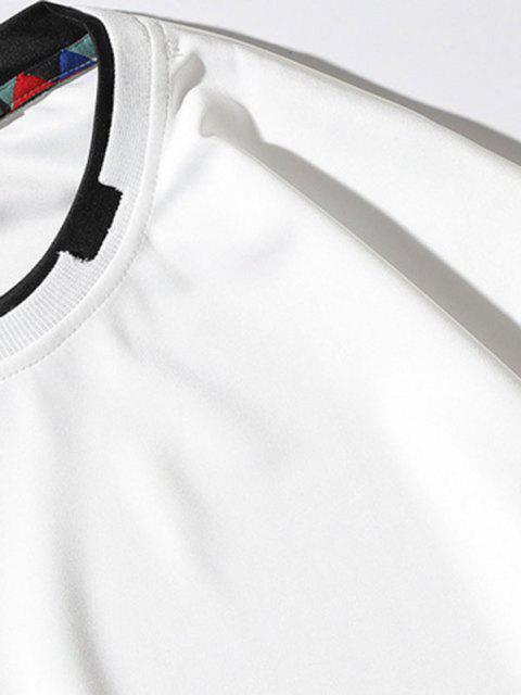 Grafik Applique Kontrast Künstliche Twinset Sweatshirt - Weiß S Mobile