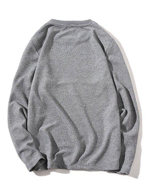 hot Pure Color Pullover Knitwear - GRAY XS Mobile