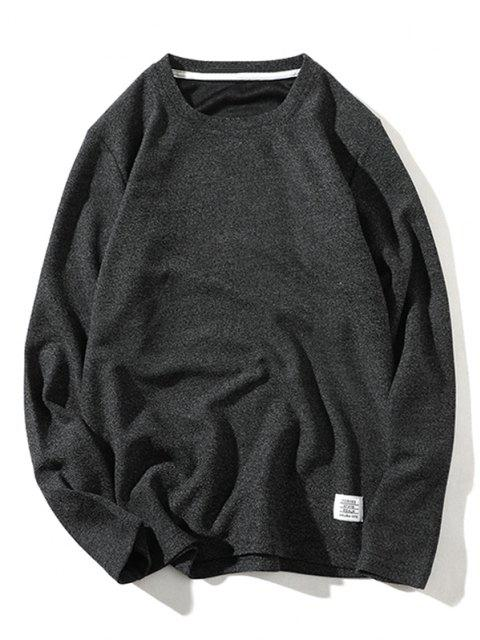 hot Pure Color Pullover Knitwear - BLACK S Mobile
