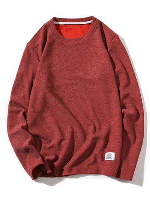 outfits Pure Color Pullover Knitwear - RED WINE S Mobile