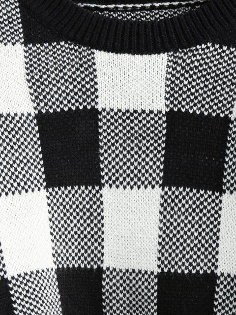 ZAFUL Camisola da Colheita do Ombro da Gota da Manta Cortado - Preto L Mobile